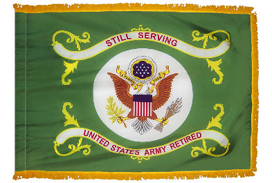 3 x 4 us army retired indoor amp parade flag with fringe